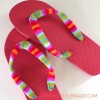 Yarn Wrapped Flip Flops Tutorial!