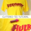 Glittered Hulkamania Tee