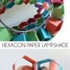 hexagon paper pendant shade
