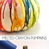 Melted Crayon Pumpkin Craft