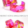 Abstract Acrylic Bangle Bracelets
