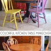 Colorful Kitchen Table Makeover