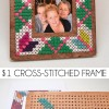 $1 Cross-Stitched Frame