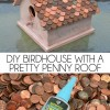 DIY Birdhouse with a Pretty Penny Roof