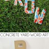 Concrete Yard Word Art