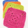 Closed Granny Squares - Crochet Washcloths with Tom's of Maine