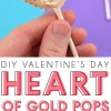 Heart of Gold Chocolate Pops