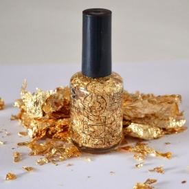 Make Your Own Gold Leaf Top Coat for Less than $6