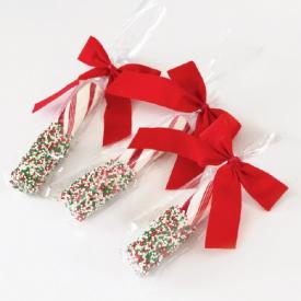 Easy Dipped Candy Canes and Peppermint Bark