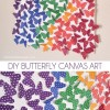 DIY Butterfly Canvas Art