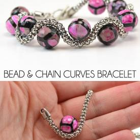 Bead and Chain Curves Bracelet