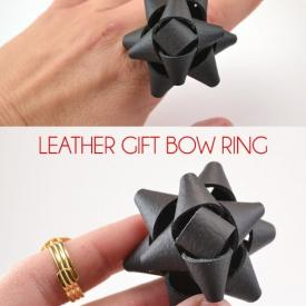 Leather Bow Ring Tutorial
