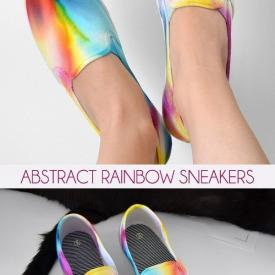 Abstract Rainbow Sneakers
