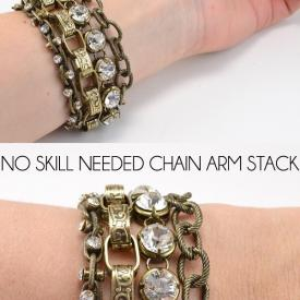 No Skill Needed Chain Arm Stack