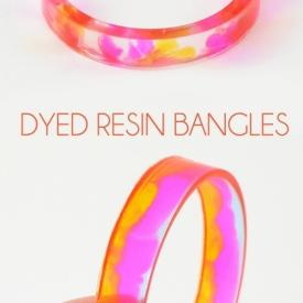Dyed Resin Bangles