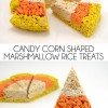Candy Corn Shaped Marshmallow Rice Treats