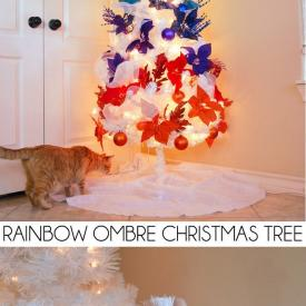 How to Fill Out a White Christmas Tree... My Rainbow Ombre Christmas Tree