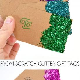 From Scratch Glitter Gift Tags