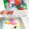 Milk Marbling Kid Craft