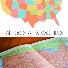 All 50 States SVG Files + The Great Lakes!