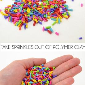 How to Make Fake Sprinkles from Polymer Clay