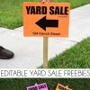 Editable Yard Sale Sign Freebies