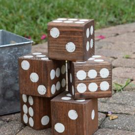 Homemade Wooden Lawn Dice Game