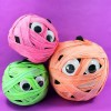 Colorfully Wrapped Mummy No Cave Pumpkin Halloween Craft