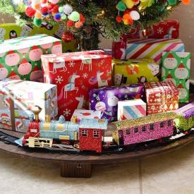 Christmas Tree Train Table & Stand Cover