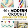 40+ Modern Crochet Afghan Patterns