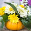 DIY Fresh Pumpkin Vase for Fall Flowers