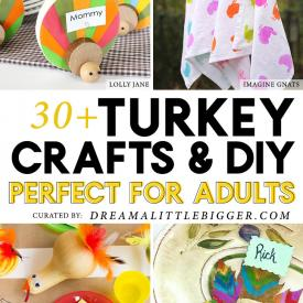 33 Thanksgiving Turkey Crafts for Adults