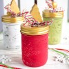 DIY Painted Christmas Jars