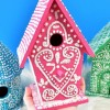 DIY Iced Faux Gingerbread Birdhouses