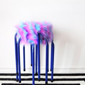 15-Minute DIY Furry Stacking Stools