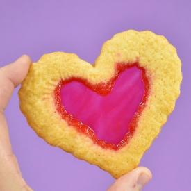 Gluten Free Stained Glass Cookies - Valentine's Day Hearts