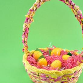 DIY Woven Fabric Easter Basket from Scratch