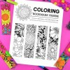 Free Floral Bookmarks to Color