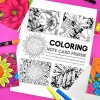 Free Floral Notecards to Color