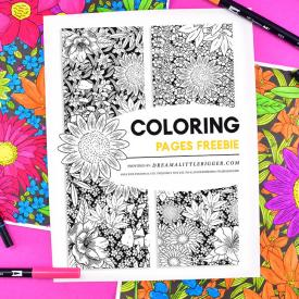 Free Jumbo Floral Coloring Pages