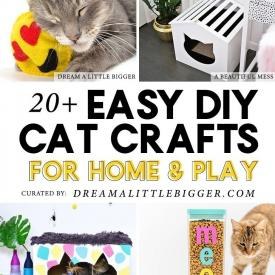 20+ Cat Crafts and DIY Projects for Play and Home