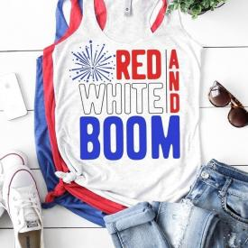 Red, White, and Boom Fourth of July Tee Shirt