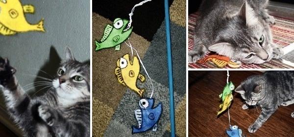 It's Fishy Cat Crack Stick Toy www.dreamalittlebigger.com