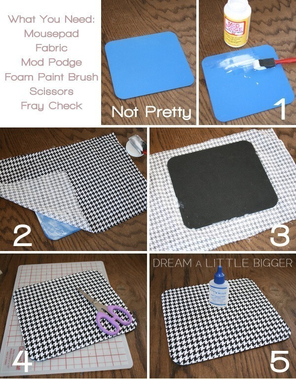 Super Fast, Fabulous Mouse Pad DIY!