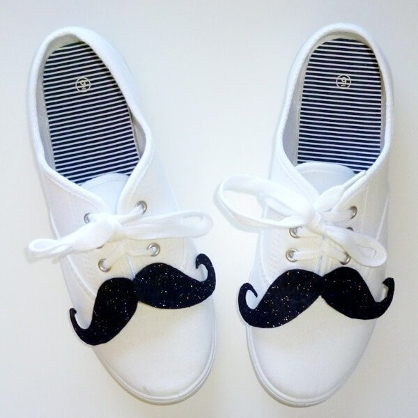 Shoestaches - Mustaches for your Shoes!