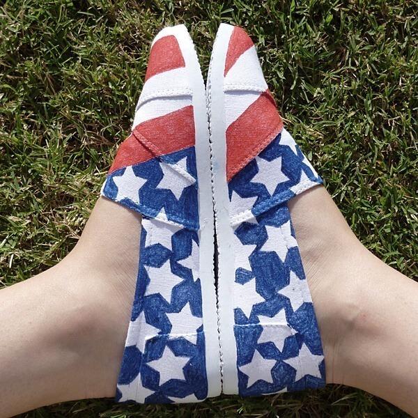 Patriotic Painted Shoes
