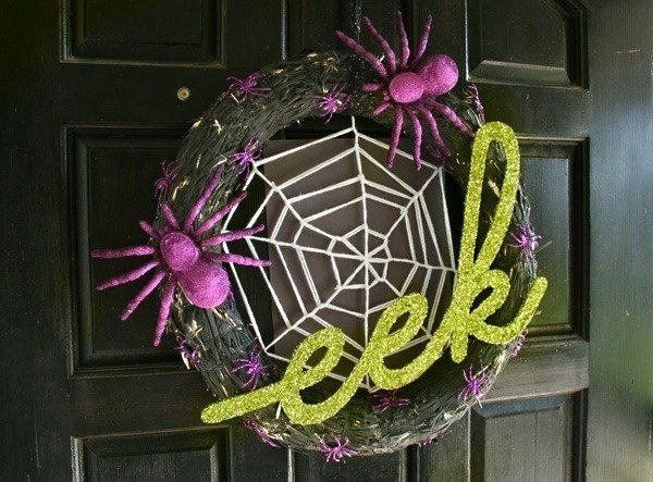 Glittery EEK Wreath (DIY) - Dream a Little Bigger