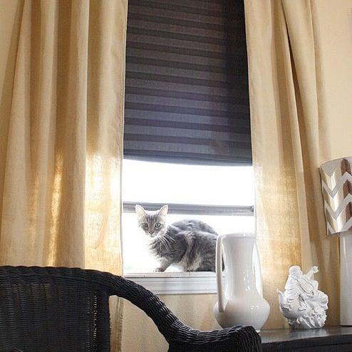 100% No Sew, Crazy Cheap Curtain DIY - Dream a Little Bigger