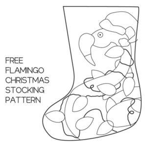 Free Christmas Stocking Pattern - Flamingo