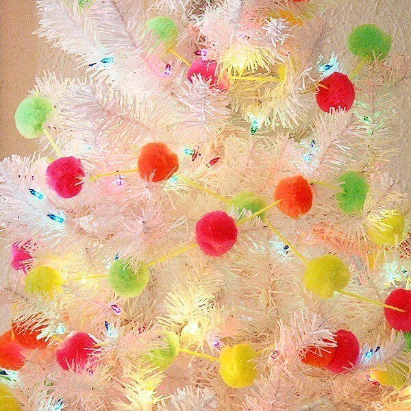 Cheap & Easy Neon Pompom Garland DIY